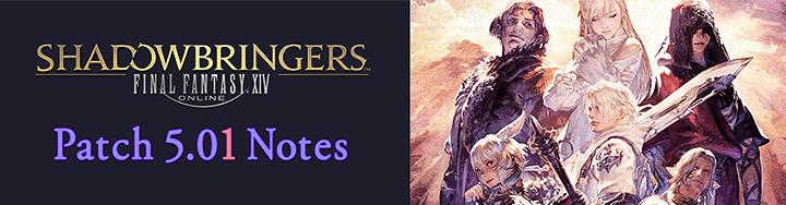 Patch 5.01 Notes – Traduzione Italiana
